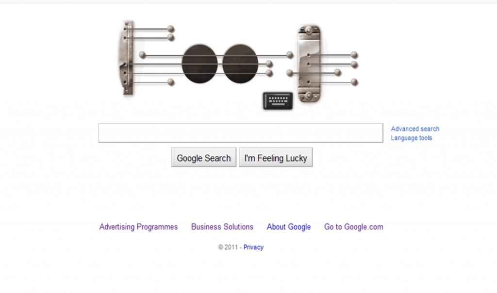 Les Paul Google Doodle