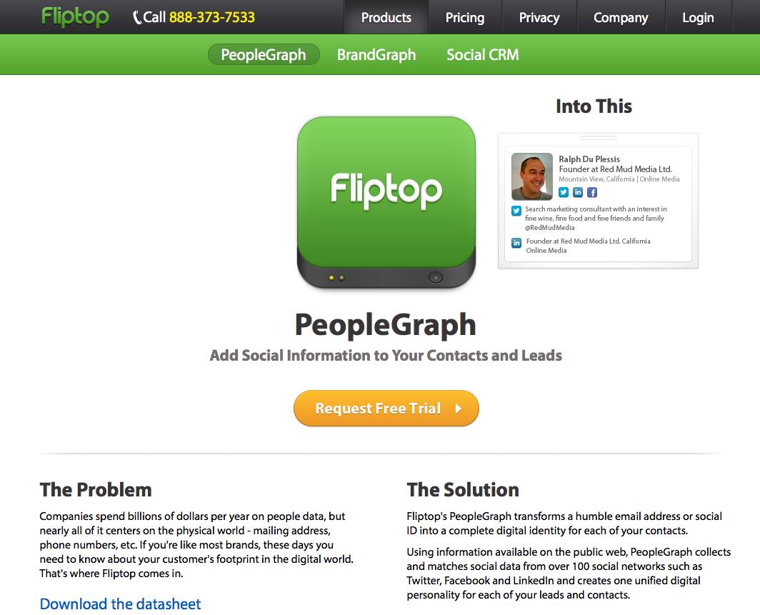 Fliptop people graph