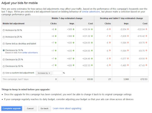 Adwords enhanced campaigns bidding options