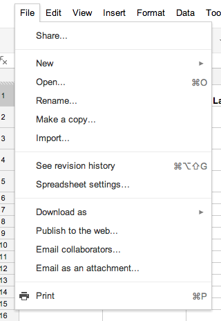 Copy a Google Spreadsheet