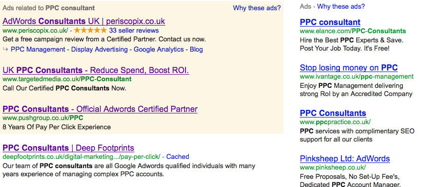 PPC consultant search results