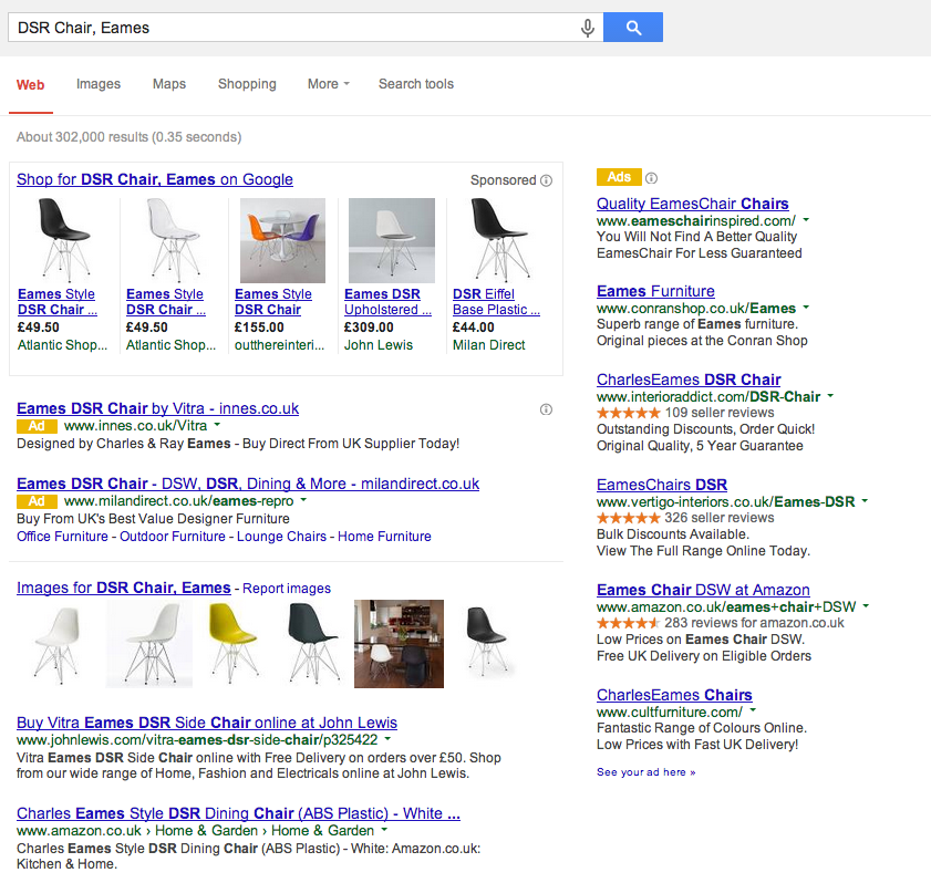 Adwords change display of ads